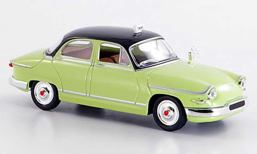 Panhard PL17 1/43 Solido Taxi verte-noire 1961 miniature