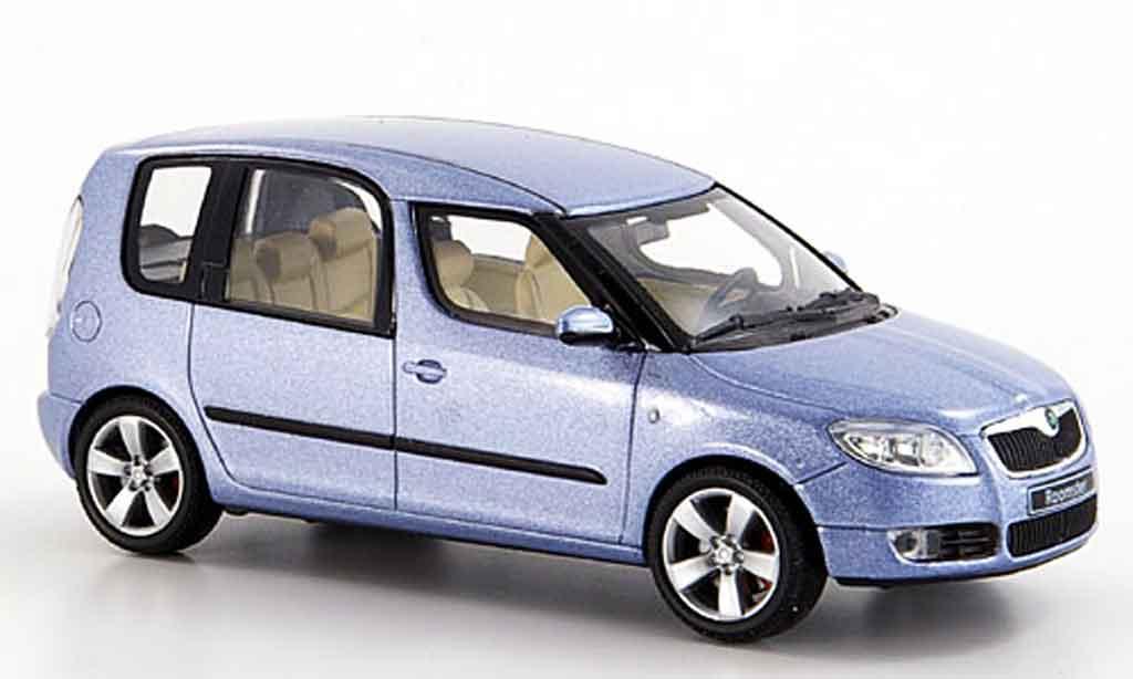 skoda roomster miniature grise metallisee bleu 2006 abrex 1 43 voiture. Black Bedroom Furniture Sets. Home Design Ideas