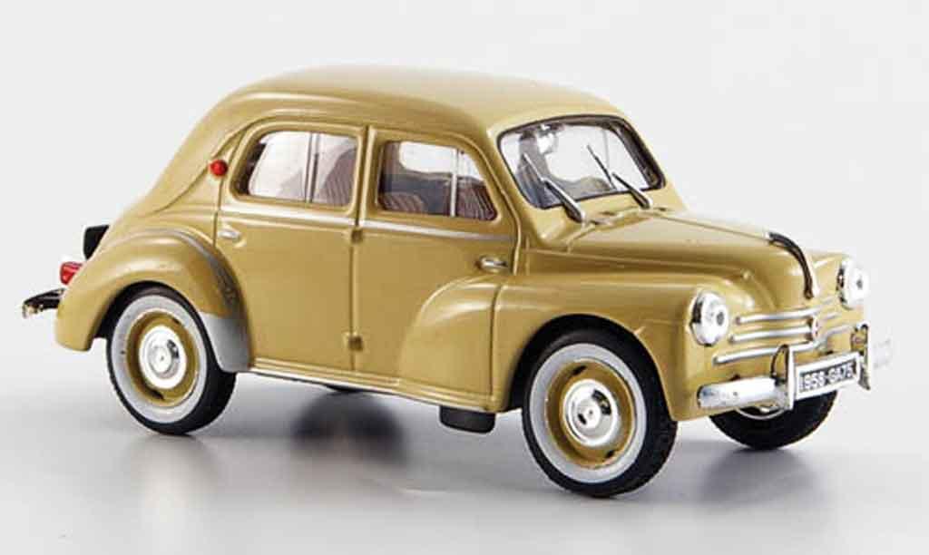 Renault 4CV 1/43 Eligor sport r 1062 beige 1958 miniature