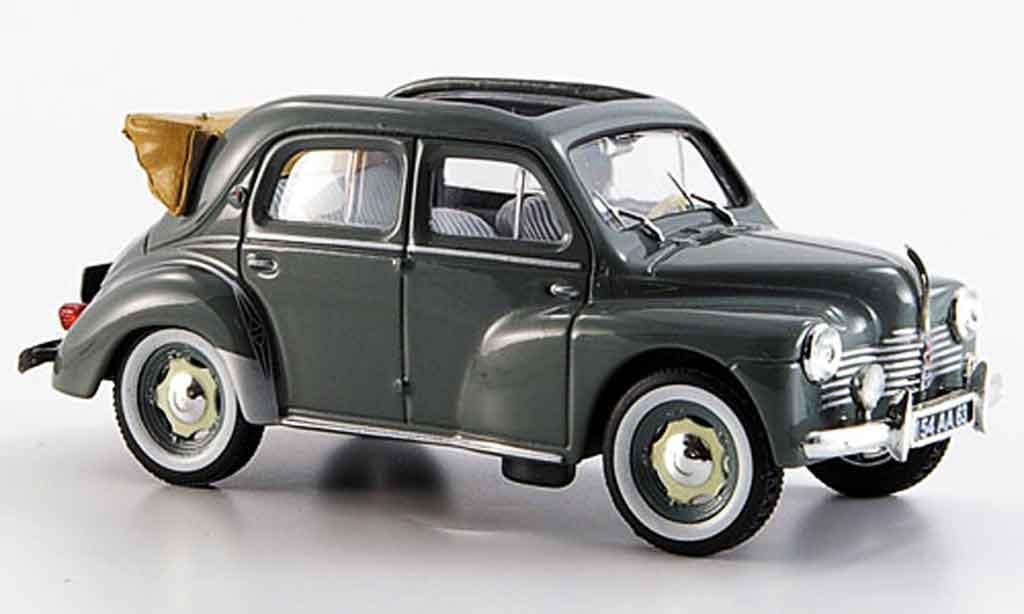 Renault 4CV 1/43 Eligor cabriolet grise 1953 miniature