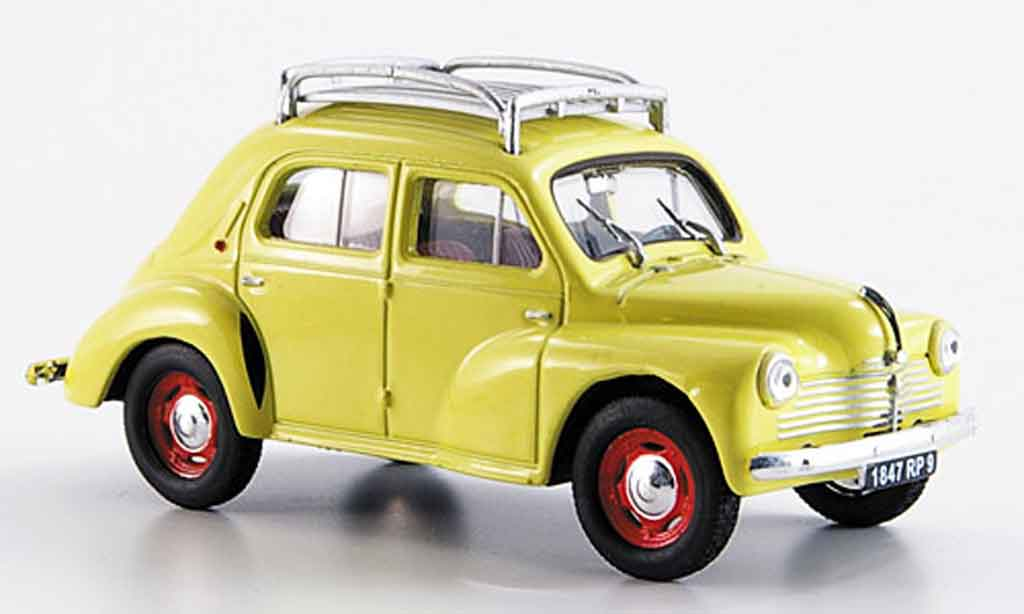 Renault 4CV 1/43 Eligor r 1060 avec barres de toit 1947 miniature