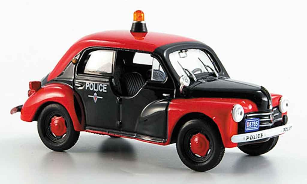 Renault 4CV 1/43 Eligor police r1062 1956 miniature
