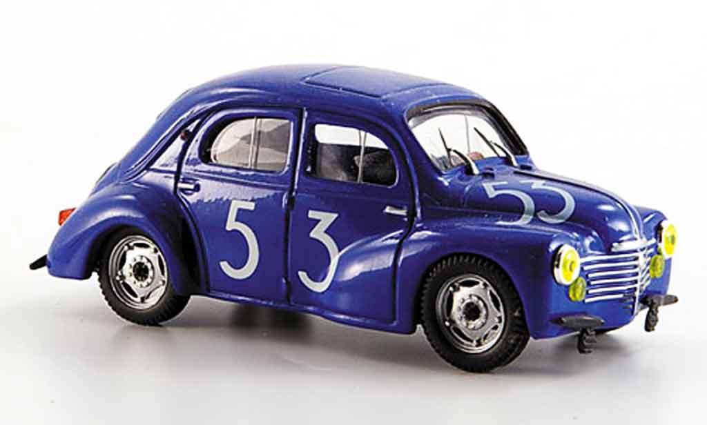 Renault 4CV 1/43 Eligor bol dor no. 53 1952 miniature