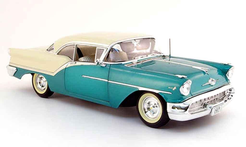 Oldsmobile Super 88 1/18 Highway 61 grun blanche 1957 miniature