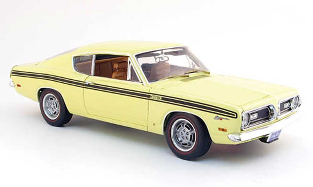 Plymouth Barracuda 1969 1/18 Highway 61 formula s 383 jaune miniature