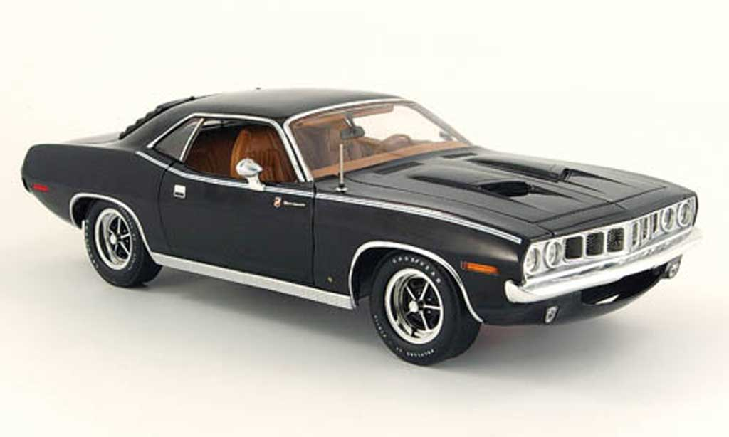 Plymouth Gran Barracuda 1/18 Highway 61 noire 1971 miniature