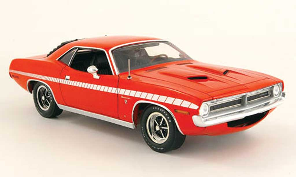 Plymouth Gran Barracuda 1/18 Highway 61 rouge 1970 miniature