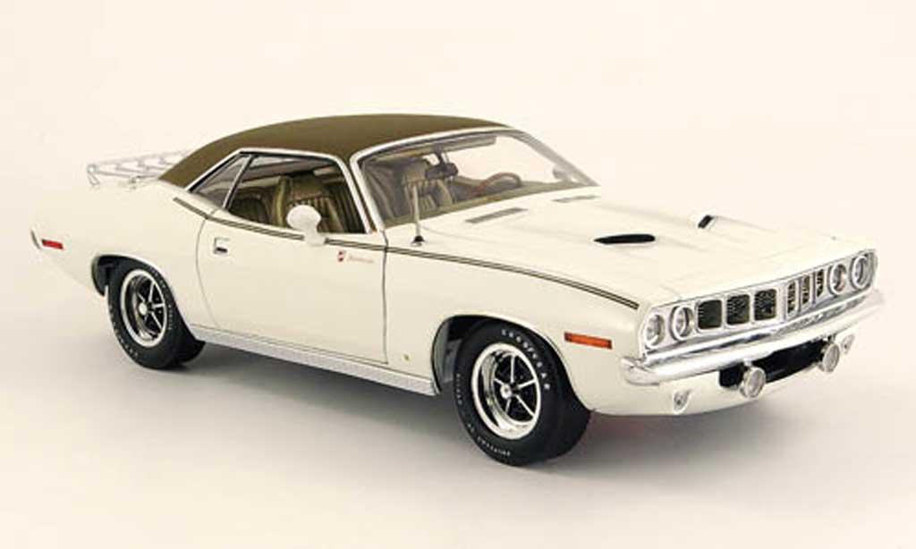 Plymouth Gran Barracuda 1/18 Highway 61 blanche/noir 1971 miniature
