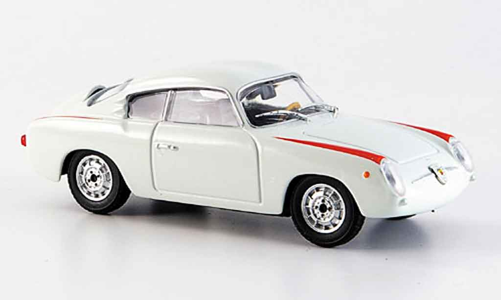 Fiat 750 1/43 Starline Abarth blanche 1956 miniature
