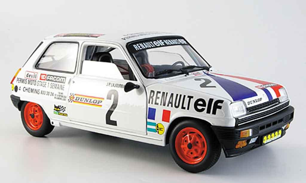 Renault 5 Alpine 1/18 Solido no.2 lajournade 1977 miniature