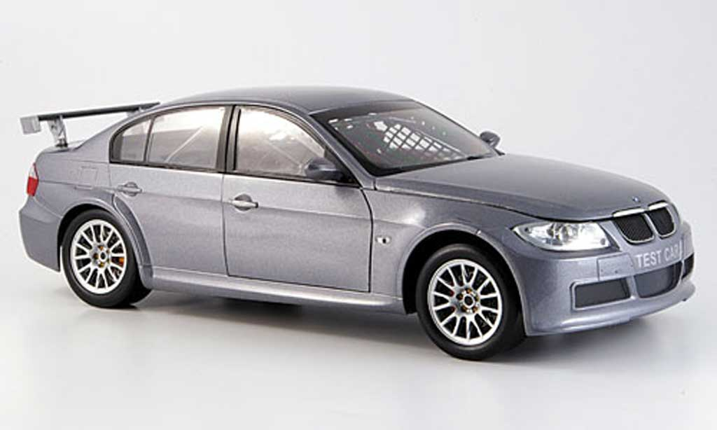 Bmw 320 E90 1/18 Guiloy si grise WTCC test car miniature