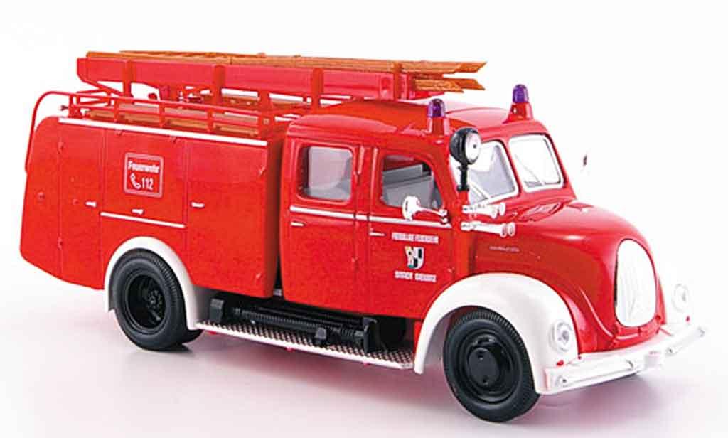 Magirus TLF 16 1/43 Yat Ming Merkur rouge blanche pompier miniature