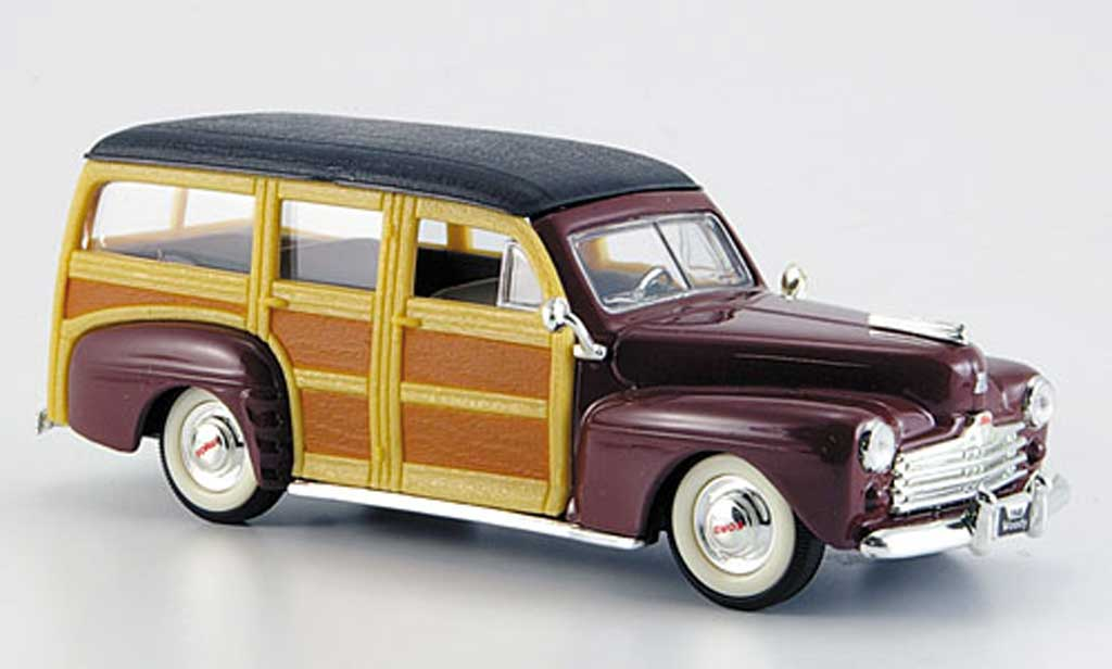 Ford Woody 1/43 Yat Ming marron/noire  1948 miniature