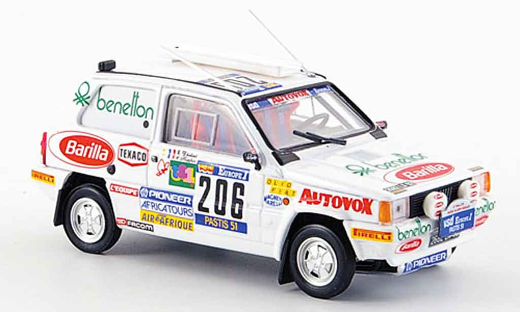 Fiat Panda 1/43 Brumm 4X4 No.206 Rally Paris Dakar 1984 diecast model cars