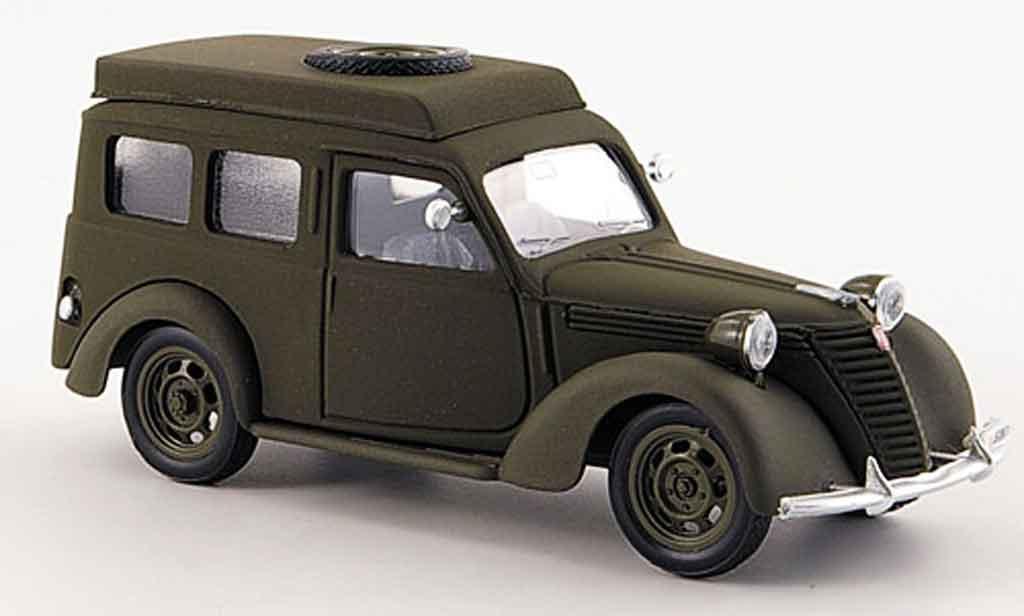 Fiat 1100 1950 1/43 Brumm Furgone Carabinieri Radiomobile police miniature