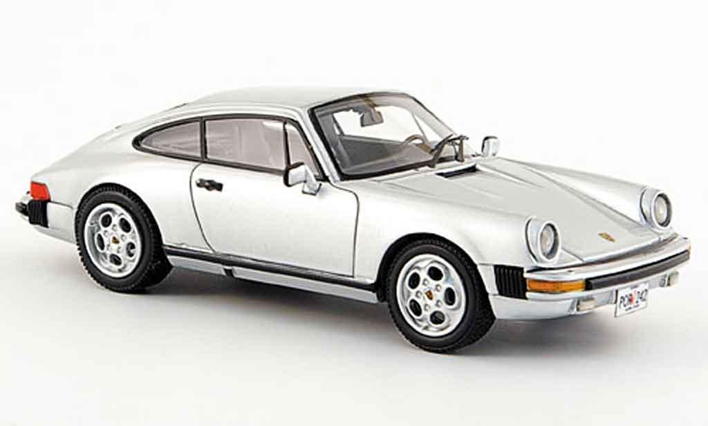Porsche 930 1/43 Neo Carrera Coupe grise metallisee USA Version 1985 miniature