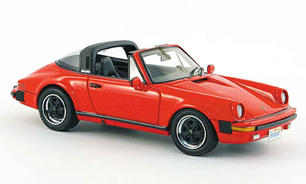 Porsche 930 Targa 1/43 Neo Carrera red USA Version 1985 diecast model cars
