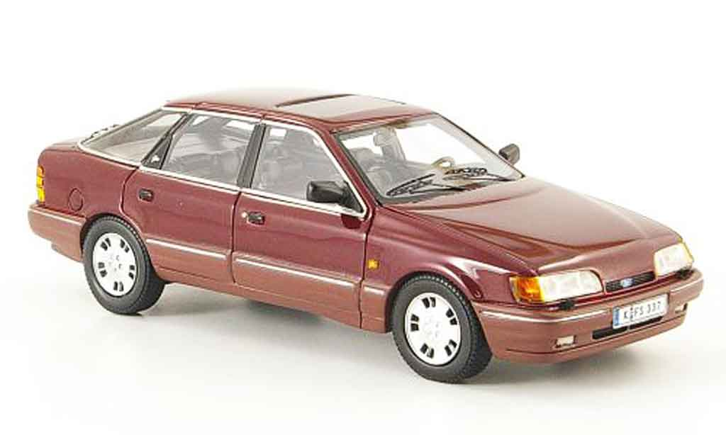 Ford Scorpio MK1 1/43 Neo rouge 1986 miniature