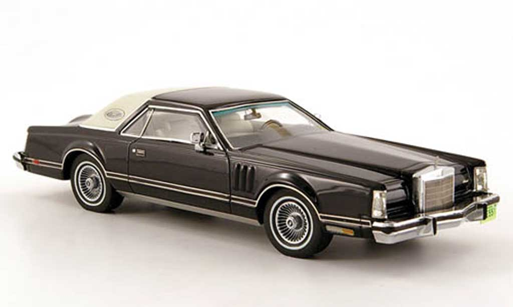 Lincoln Continental 1978 1/43 Neo Mark V noire/blanche Coupe miniature