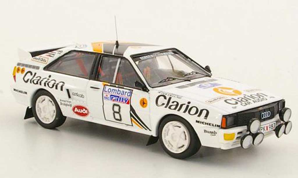 Audi Quattro 1/43 Trofeu No.8 Clarion Rally Grossbritannien 1985