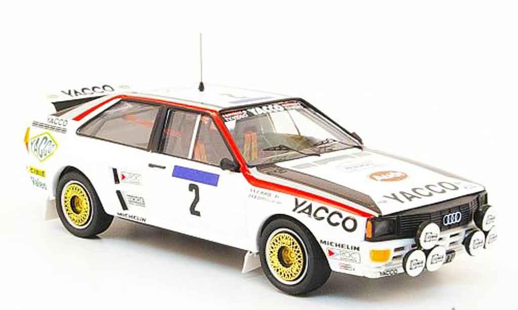Audi Quattro 1/43 Trofeu No.2 Yacco Tour de France Auto 1984 miniatura