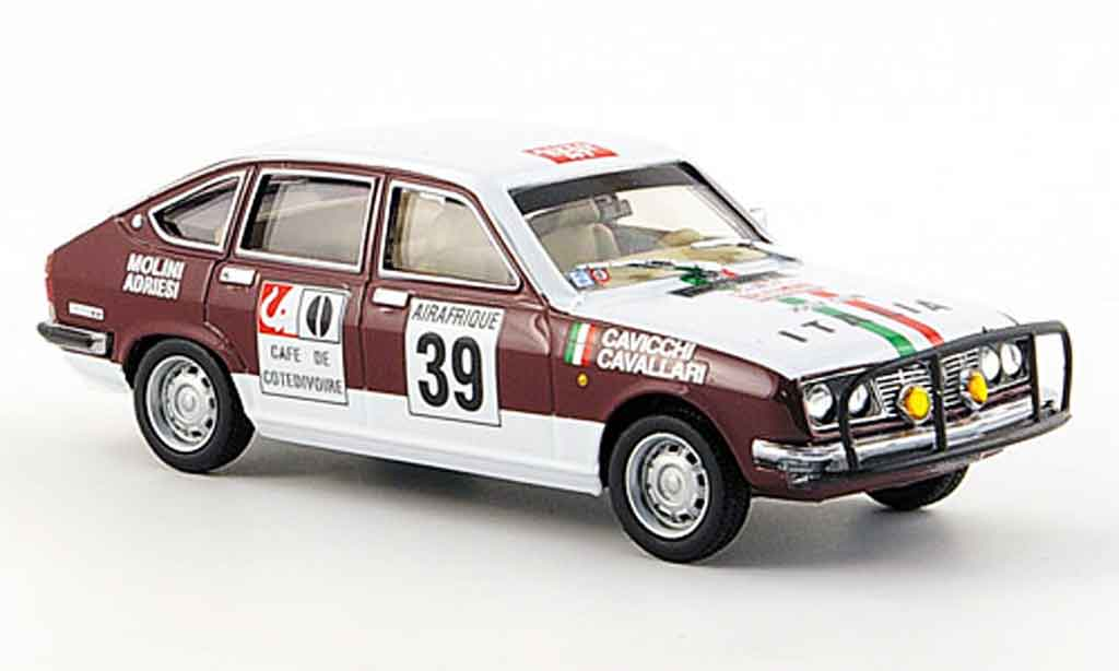 Lancia Beta berline 1/43 Pego no.39 italia rallye bandama 1973 miniature