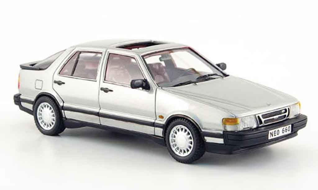 Saab 9000 Turbo 1/43 Neo grise 1988 miniature