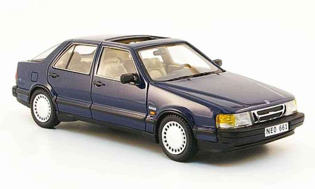 Saab 9000 1/43 Neo i bleu 1988 miniature
