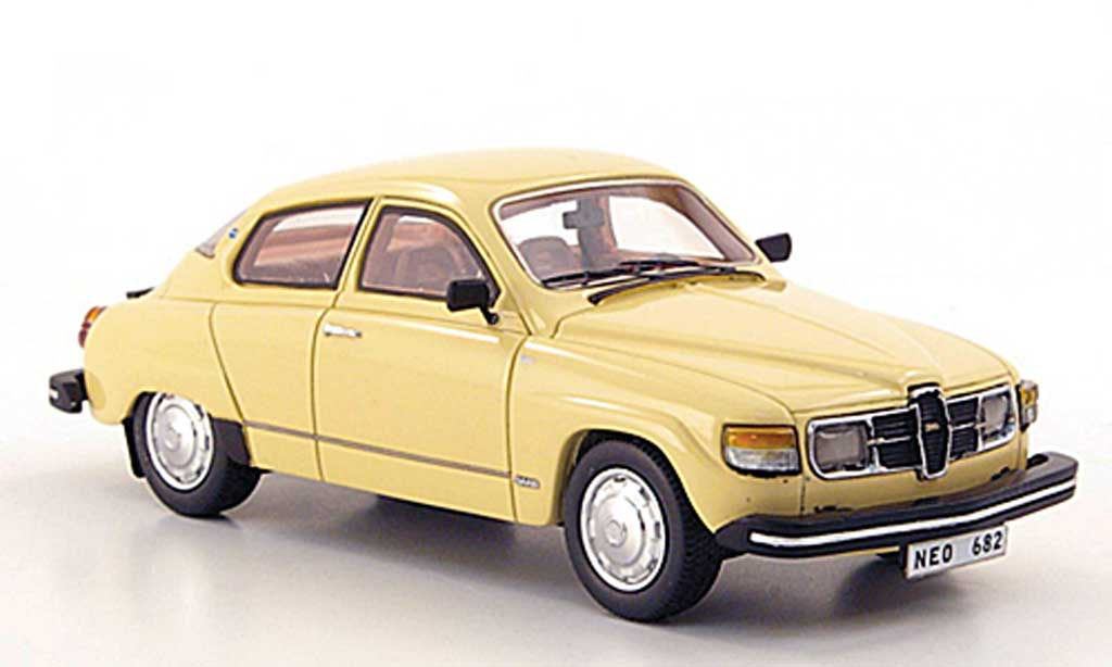 saab 96 beige 1979 neo modellauto 1 43 kaufen verkauf. Black Bedroom Furniture Sets. Home Design Ideas