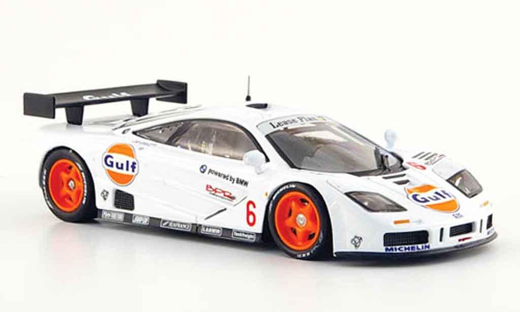 McLaren F1 GTR 1/43 IXO No.6 Gulf BPR Paul Ricard 1996 miniature