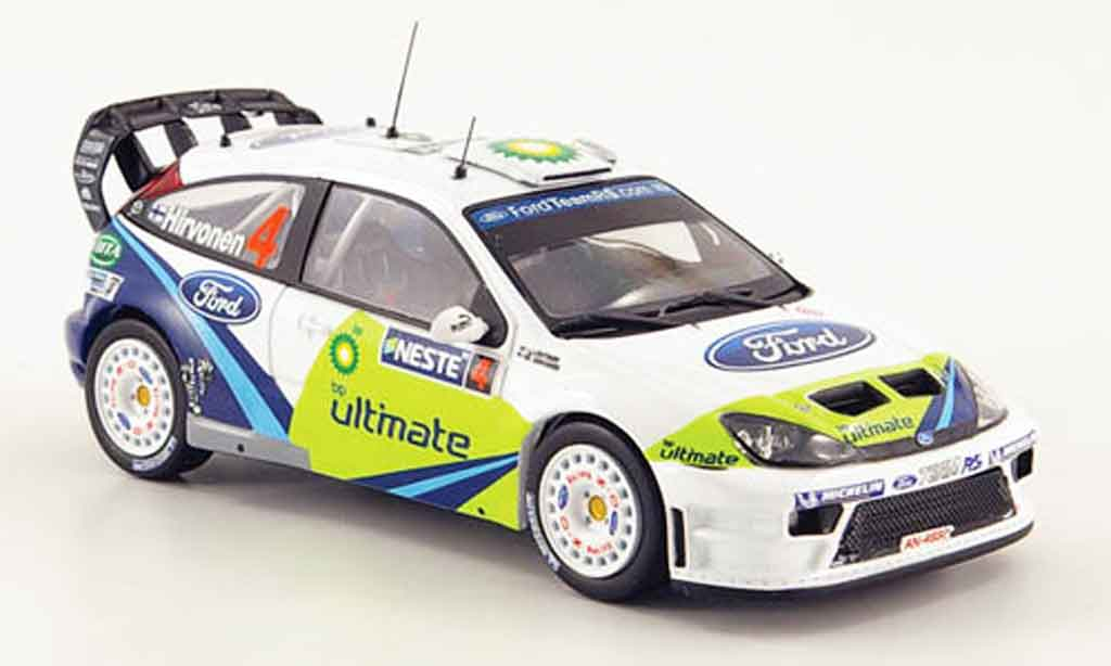 Ford Focus RS WRC 1/43 IXO No.4 BP Rally Finland 2005 miniature