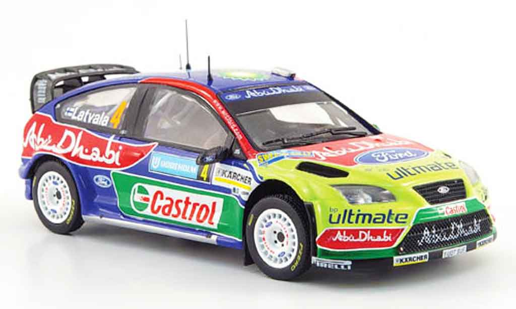 Ford Focus RS WRC 1/43 IXO 07 No.4 BP Abu Dhabi Rally Schweden 2008 miniature