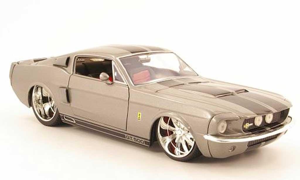 Shelby GT 500 1/18 Jada Toys Toys kr grise/noire 1967 miniature