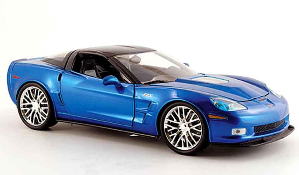 Chevrolet Corvette C6 1/18 Jada Toys bleu 2009 modellautos