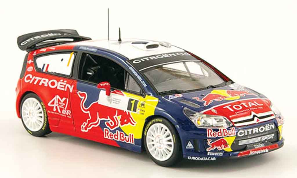 Citroen C4 WRC 2008 1/43 Norev no.1 loeb elena tour de corse miniature