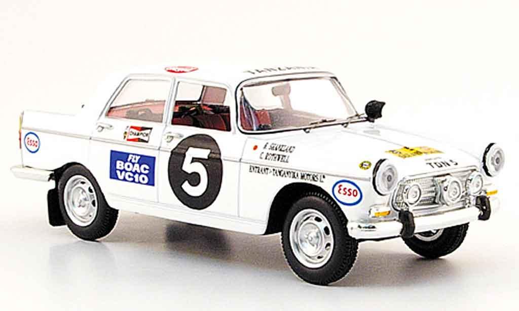Peugeot 404 Berline 1/43 Norev no.5 east african safari rallye 1967 miniature