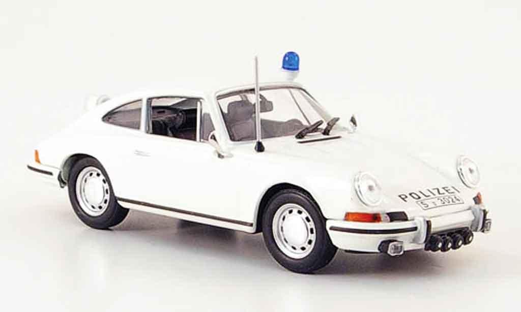 Porsche 911 2.4 1/43 Norev S police 1973 miniature