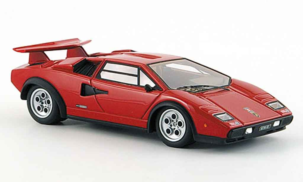 Lamborghini Countach LP 500 1/43 Look Smart s walter wolf rouge mattnoire miniature