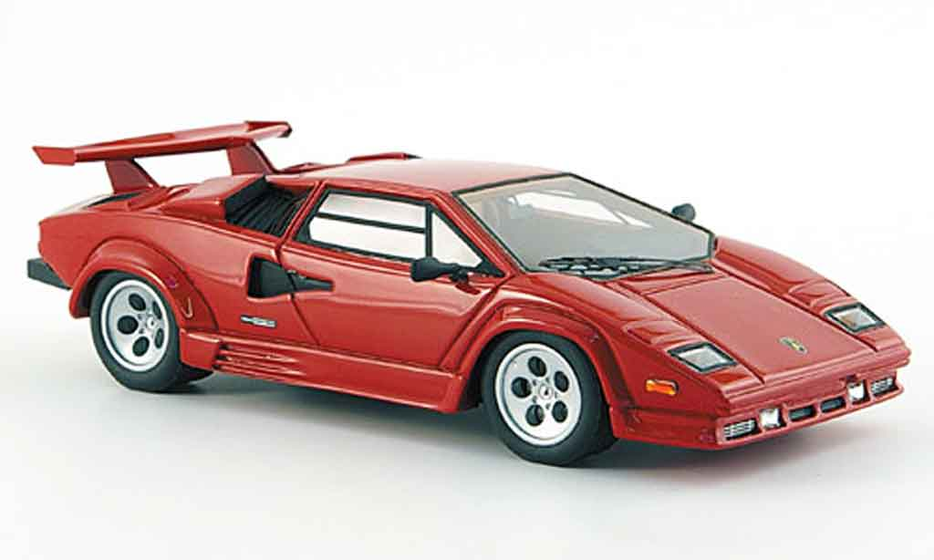 Lamborghini Countach 5000 Quattrovalvole 1/43 Look Smart rouge us version miniature