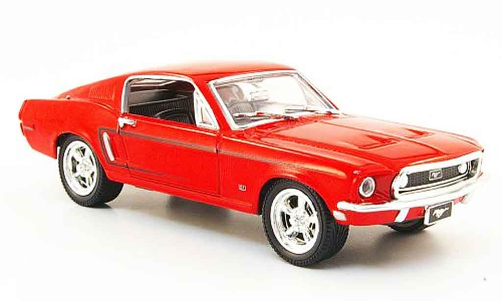 Ford Mustang 1968 1/43 Yat Ming 1968 rosso 1968 modellino in miniatura