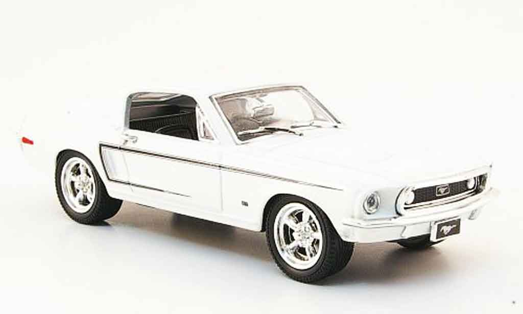 Ford Mustang 1968 1/43 Yat Ming 1968 blanche 1968 miniature