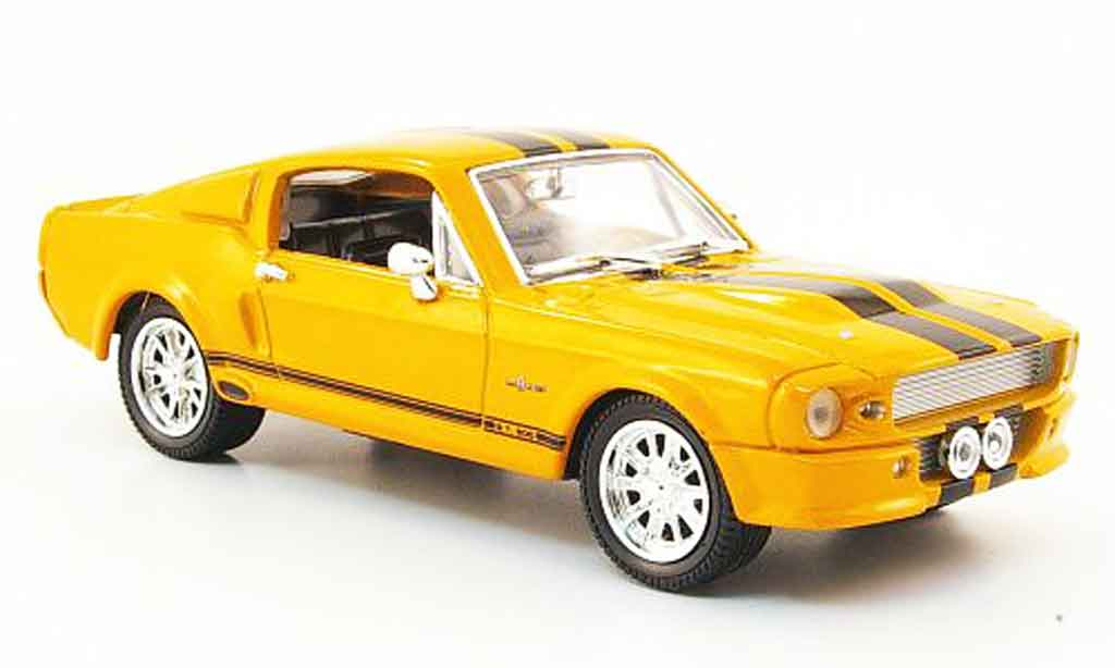 Shelby GT 500 1/43 Yat Ming GT 500 orange noire 1967 miniature