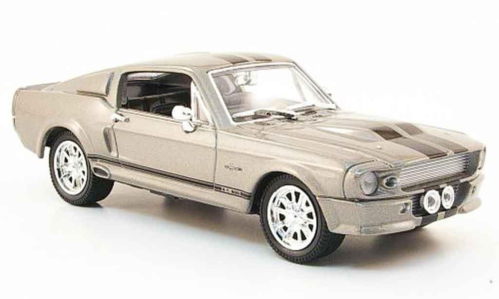 Shelby GT 500 1/43 Yat Ming grise noire 1967 miniature