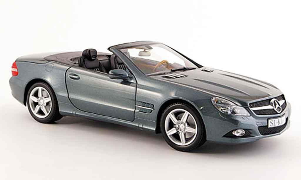 mercedes sl cabriolet miniature r 230 grise anthracite minichamps 1 18 voiture. Black Bedroom Furniture Sets. Home Design Ideas