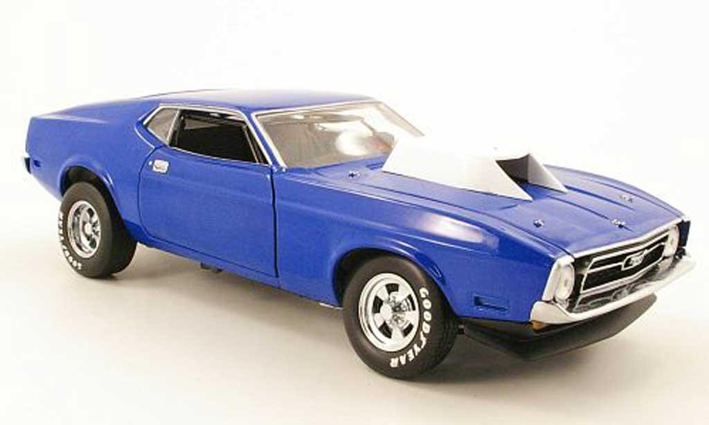 Ford Mustang 1971 1/18 Sun Star pro stock bleu diecast
