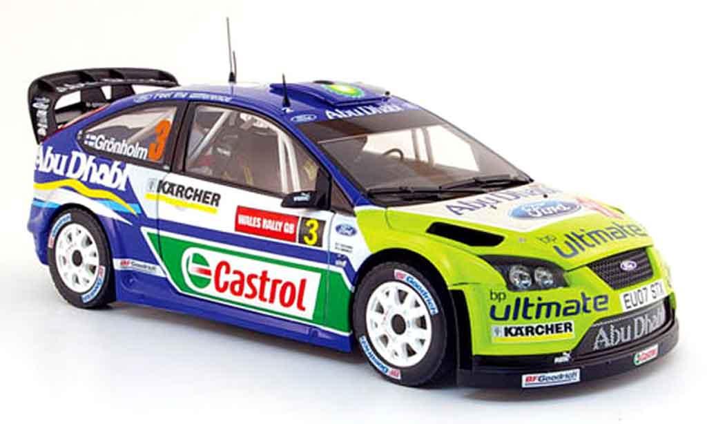 Ford Focus RS WRC 1/18 Sun Star no.3 bp/abu dhabi rallye pays de galles 2007 miniature