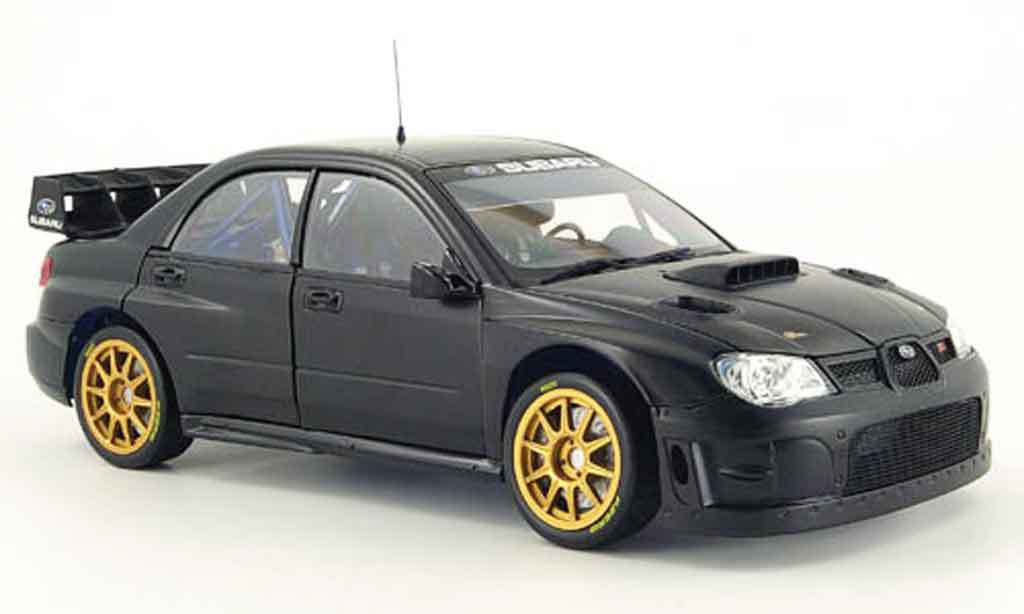 Subaru Impreza WRC 1/18 Sun Star noire flat black plain version 2008 miniature