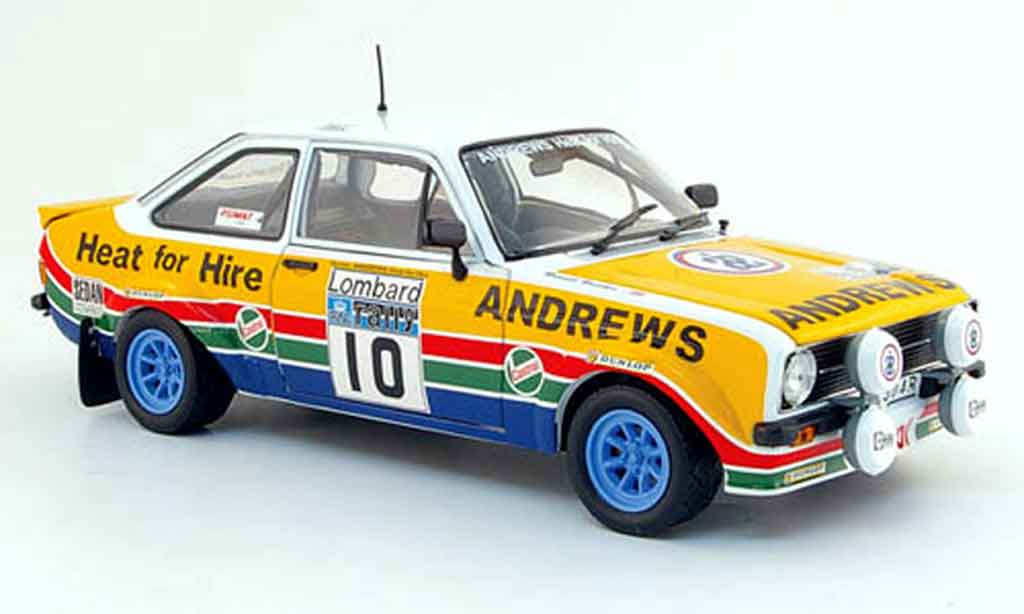 Ford Escort MK2 1/18 Sun Star rs no.10 andrews lombard rallye gb 1979 miniature