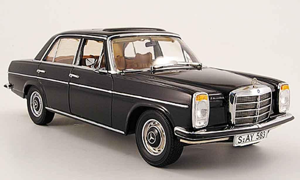 Mercedes Strich 1/18 Sun Star 8 (w 115) noire limousine 1968 miniature