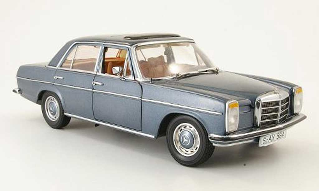 Mercedes Strich 1/18 Sun Star 8 (w 115) grise et bleue limousine 1968 miniature
